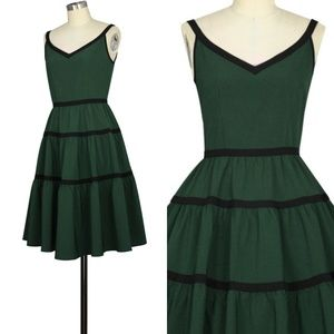 f130685ea22 Dresses - Plus Size Pin Up Clothing Pocket 1950s Dress Green